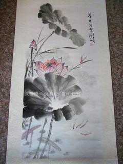 荷花的简笔画手绘图片