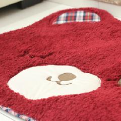 外贸原单 可爱小熊 酒红色 地垫地毯 门垫 异形垫 卡通地垫