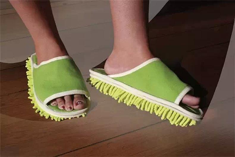 比思达四季款擦地拖鞋懒人拖鞋非鞋套 雪尼尔可拆洗拖地拖鞋包邮