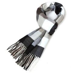 韩版冬季男士围巾冬天男女格子围巾加厚保暖围脖年轻人围巾学生潮