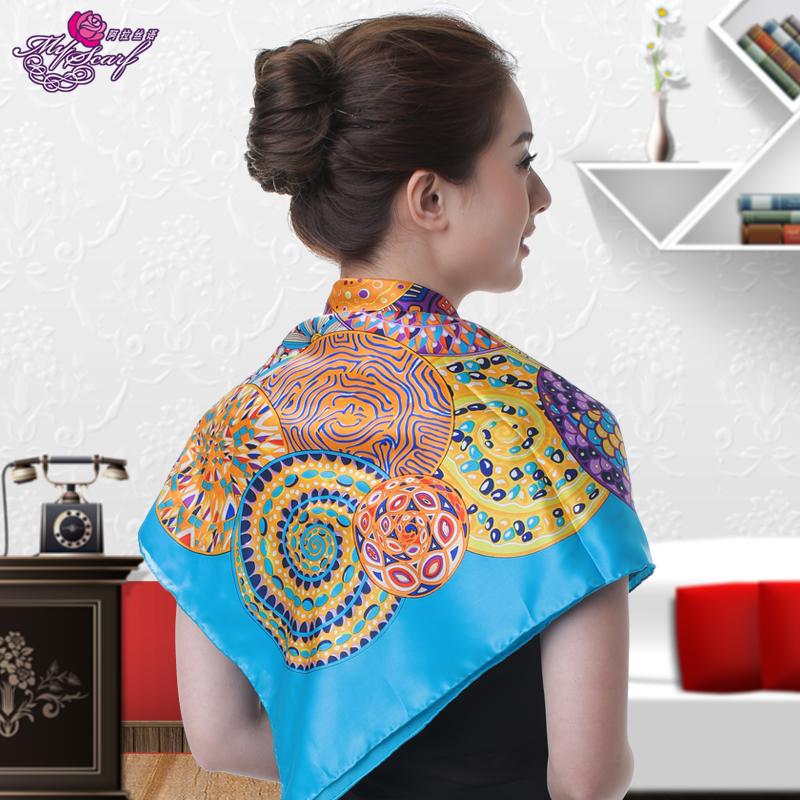 阿拉丝语100%重磅桑蚕丝披肩围巾围脖丝巾丝绸 真丝大方巾热销