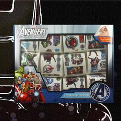 礼盒12张装 防水纹身贴纸 复仇者联盟超级英雄