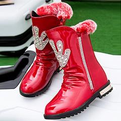 米奇尼儿童棉鞋女童靴子马丁靴2015新款秋冬中大童公主鞋