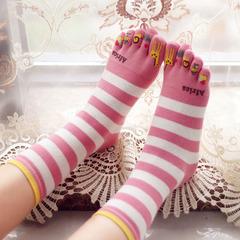 全纯棉优质可爱卡通五趾袜