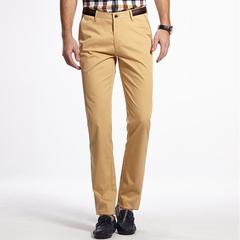 时尚简约弹力休闲棉布长裤