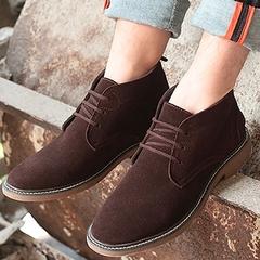 英伦磨砂皮加绒沙漠靴