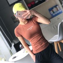 运动短袖 女跑步速干衣韩范紧身显瘦健身t恤网红瑜伽服上衣高弹力