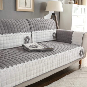 现代简约全棉布艺沙发垫四季通用防滑时尚坐垫客厅沙发巾纯色定做