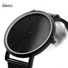 圣诞礼物 译时Enmex两针轻薄钢织气质腕表简约日历神秘感冷淡手表