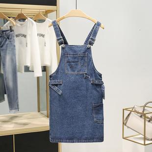 萨系列●纯棉减龄短裙半身背带品牌折扣夏装2019新品女装连衣裙