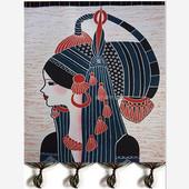 蜡染装 饰画民族风布艺少数民族特色工艺品手工加厚苗族双层印染画