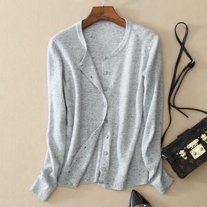 春装2018新款羊绒毛针织衫女开衫外搭毛衣韩版时尚短款打底衫外套