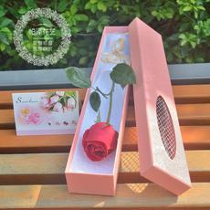 一朵玫瑰花(1单枝支)红玫瑰、粉玫瑰、白玫瑰、香槟玫瑰鲜花速递