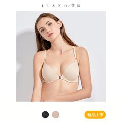 艾蓝前扣文胸聚拢性感上托女大胸显小大码内衣薄款美背胸罩大罩杯