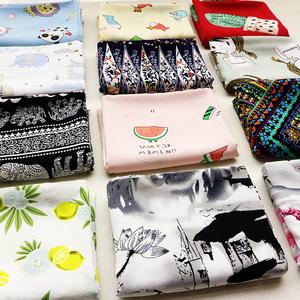 1件包邮人造棉布料棉绸布料夏印花面料婴幼儿母婴服装连衣裙布料服装面料