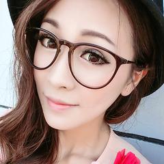 新款复古眼镜框女款 潮男圆框修脸明星款平光镜 可配近视眼镜