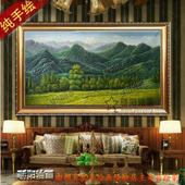 饰画客厅挂画现代抽象玄关画巨人山 欧式有山无水风景山油画家居装
