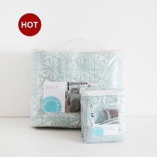 超柔软全棉砂洗做旧双人衍缝被绗缝被床盖枕套三件套