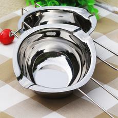 焙斯特304不锈钢材质巧克力隔水融化碗 黄油加热融化碗烘焙加热锅