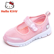 Hello Kitty Kids'Shoes Girls' Sports Shoes Summer Girls'Single Shoes Hollow Girls' Net Shoes with Air-permeable Mesh Surface