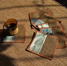中式杯垫 禅意茶艺茶道垫布艺日式隔热垫中国风功夫茶复古典