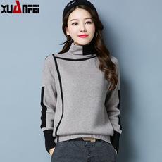 高领毛衣女秋冬新款韩版宽松毛衫女士加厚长袖显瘦休闲针织打底衫