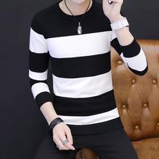 冬季男士毛衣韩版圆领针织衫男装修身加厚打底保暖毛衫潮流毛衣男