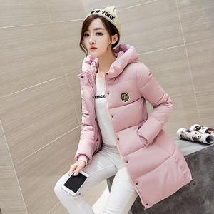 新款冬装韩版女装棉服女中长款连帽修身羽绒棉衣大码棉袄加厚外套女外套