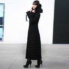 2017冬季新款加长修身显瘦长款羽绒服女长过膝加厚保暖超长到脚踝