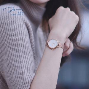 唯路时简约休闲女士手表玫瑰金时尚款潮流手表女石英腕表女女士手表