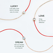 Free of domestic freight, Korean simple red rope half chain, basic bracelet, titanium steel, 18K Gold Plated Bracelet w