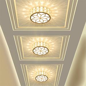 led过道灯走廊灯玄关灯客厅水晶射灯现代简约门厅灯吸顶走道灯具射灯
