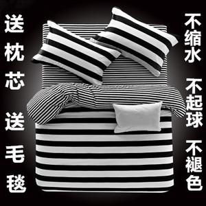 春夏床上用品1.5/1.8/2.0被单被子3四件套1.2米床单人被套三件套4三件套床单