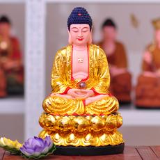 三宝佛祖释迦牟尼佛药师佛如来佛主树脂佛像阿弥陀佛佛堂供奉摆件