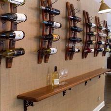 木质红酒架墙上酒架壁挂式酒架酒杯架墙壁酒架创意置物架葡萄酒架