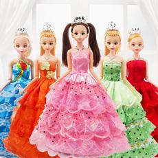 单个仿真模型萝莉小人偶儿童生日女孩公主芭芘比婚纱洋娃娃玩具
