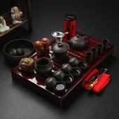 家用小型客厅茶盘 现代简约中式复古创意4人个性 茶道功夫茶具套装