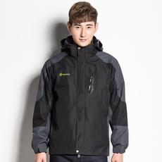 2017新款秋冬户外男冲锋衣三合一两件套防水透气女加厚保暖登山服