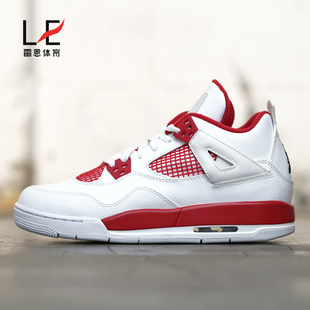 雷恩Air Jordan 4 Alternate 89 AJ4白红篮球鞋408452-106-003