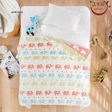 五层纱布被纯棉空调被儿童毯子学生被子1.5m全棉A类 特价