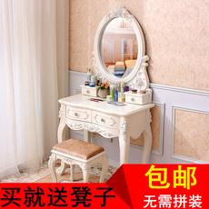 欧式梳妆台简约实木化妆桌田园法式卧室梳妆台小户型象牙白色包邮