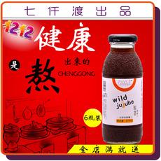 新品营养无糖果味饮料去火解腻七仟渡酸枣汁275ml6瓶整箱低价包邮