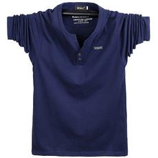 春季新款纯棉长袖T恤 加肥加大号码t恤衫男纯色V领宽松肥佬打底衫