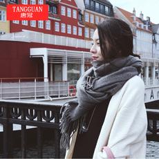 围巾女冬季韩版加厚长款秋冬天两用学生保暖韩国围脖男仿羊绒披肩