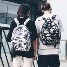 双肩包女2018新款书包男学生时尚潮流韩版校园背包女帆布休闲旅行