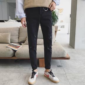 秋季新款韩版小脚修身型牛仔长裤