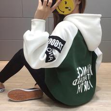 卫衣2017新款女韩版潮学生加绒连帽ulzzang加厚外套女外穿bf绒衫