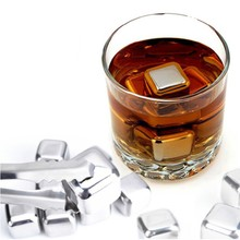 Stainless Steel Whiskey Stones Ice Cubes Soapstone Chillers