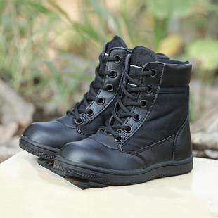 夏季儿童军靴亲子鞋男童作训单靴特种兵作战靴中大童军靴女童军鞋