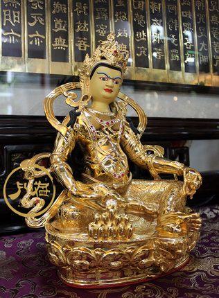 佛佛台湾盛凡铜鎏金佛像 藏传佛教密宗 黄财神 五色财神 护法 佛